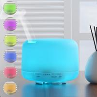 500ml Ultrasonic Air Aroma Humidifier With 7 Color LED Lights Electric Aromatherapy Essential Oil Aroma Diffuser