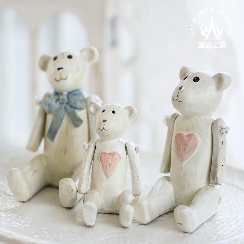 Rustic Residence Decor Teddy Bear Miniature Collectible figurines Ornament Retro Small Bear Resin Artware Bear Residence Ornament Particular Reward Collectible figurines & Miniatures, Low cost Collectible figurines & Miniatures,...