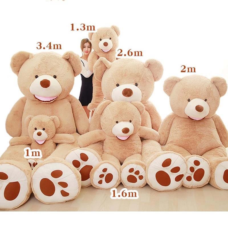 Wholesale Teddy Bear Huge 93inch American Giant Bear Skin Teddy Bear Coat Good Quality Factary Price Soft Toys For Girls 80-340 недорго, оригинальная цена
