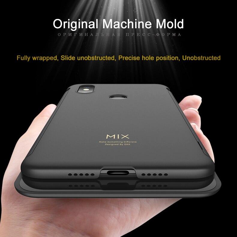 HTB1eQoBaJjvK1RjSspiq6AEqXXai GKK Original Case for Xiaomi Mi Mix 3 Case Slide Armor Anti-drop 2 in 1 Hard Matte Back Cover for Xiaomi mi mix3 Case Fundas