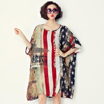 Summer Dress Flag Pattern