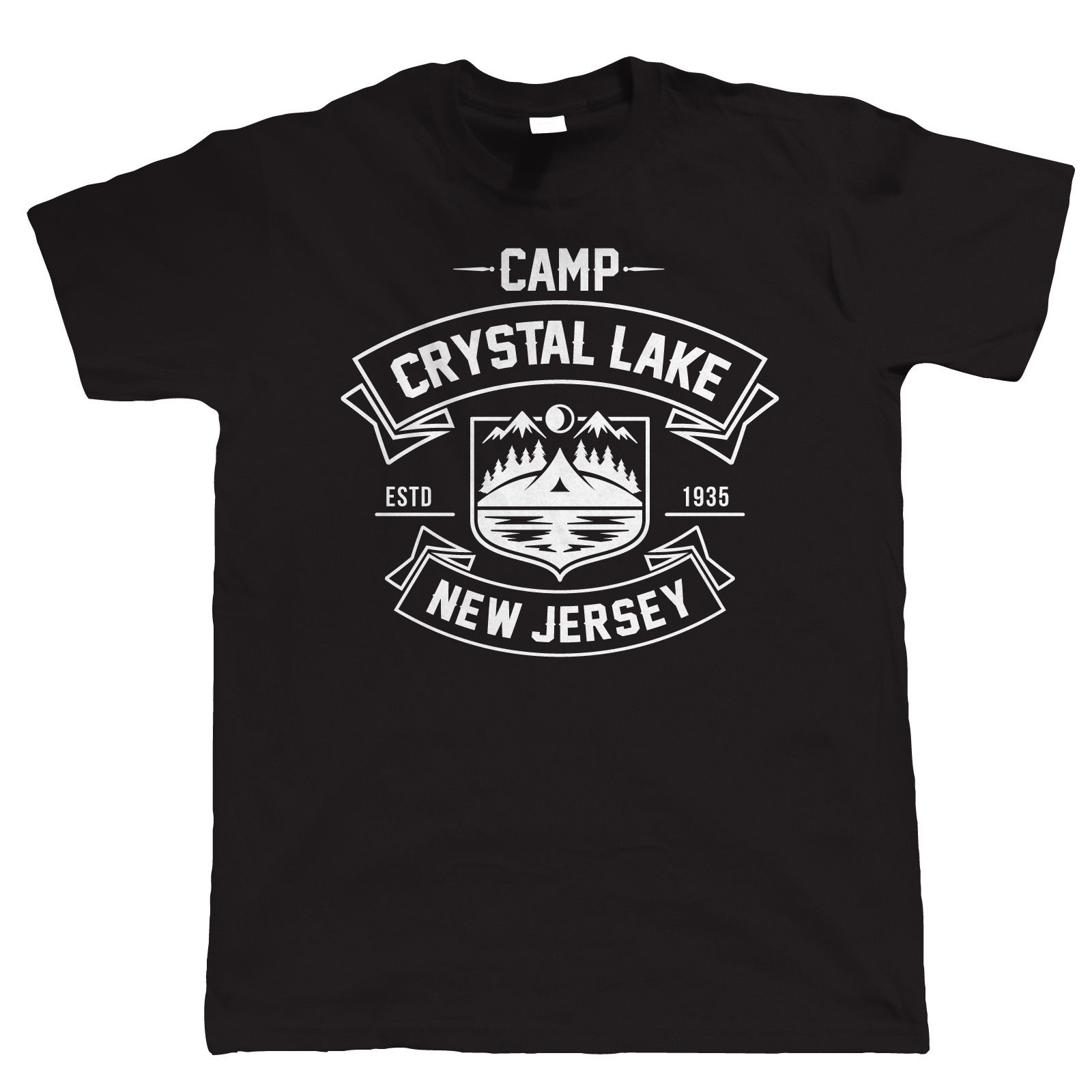 Camp Crystal Lake Mens Horror Movie T Shirt Halloween Costume Fancy Dress 2019 Creative Novelty Summer Cotton  Order T Shirts image