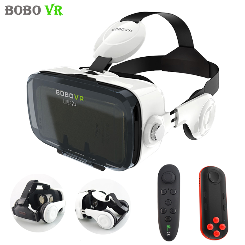 xiaozhai BOBOVR Z4 <font><b>Pro</b></font> Leather Version 3D Cardboard Virtual Reality <font><b>VR</b></font> <font><b>Glasses</b></font> Headset Vrbox +Stereo Headphone for 4-6.0'phone