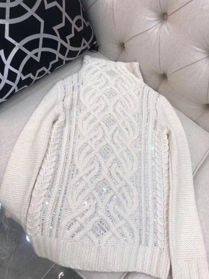 Pull tricoté à paillettes en laine 2018 pour femmes-in Pulls from Mode Femme et Accessoires on AliExpress - 11.11_Double 11_Singles' Day 1
