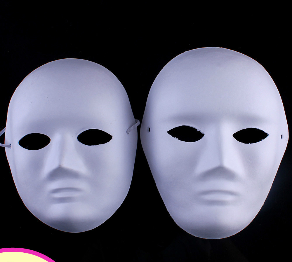 online shop 10pcs/lot white diy boy and girls drawing brand masks