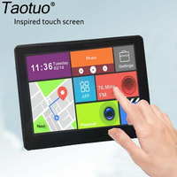 Portable 7 Inch Car Truck GPS Navigation Android 4 4 Wi Fi Free Upgrade Navigation Video