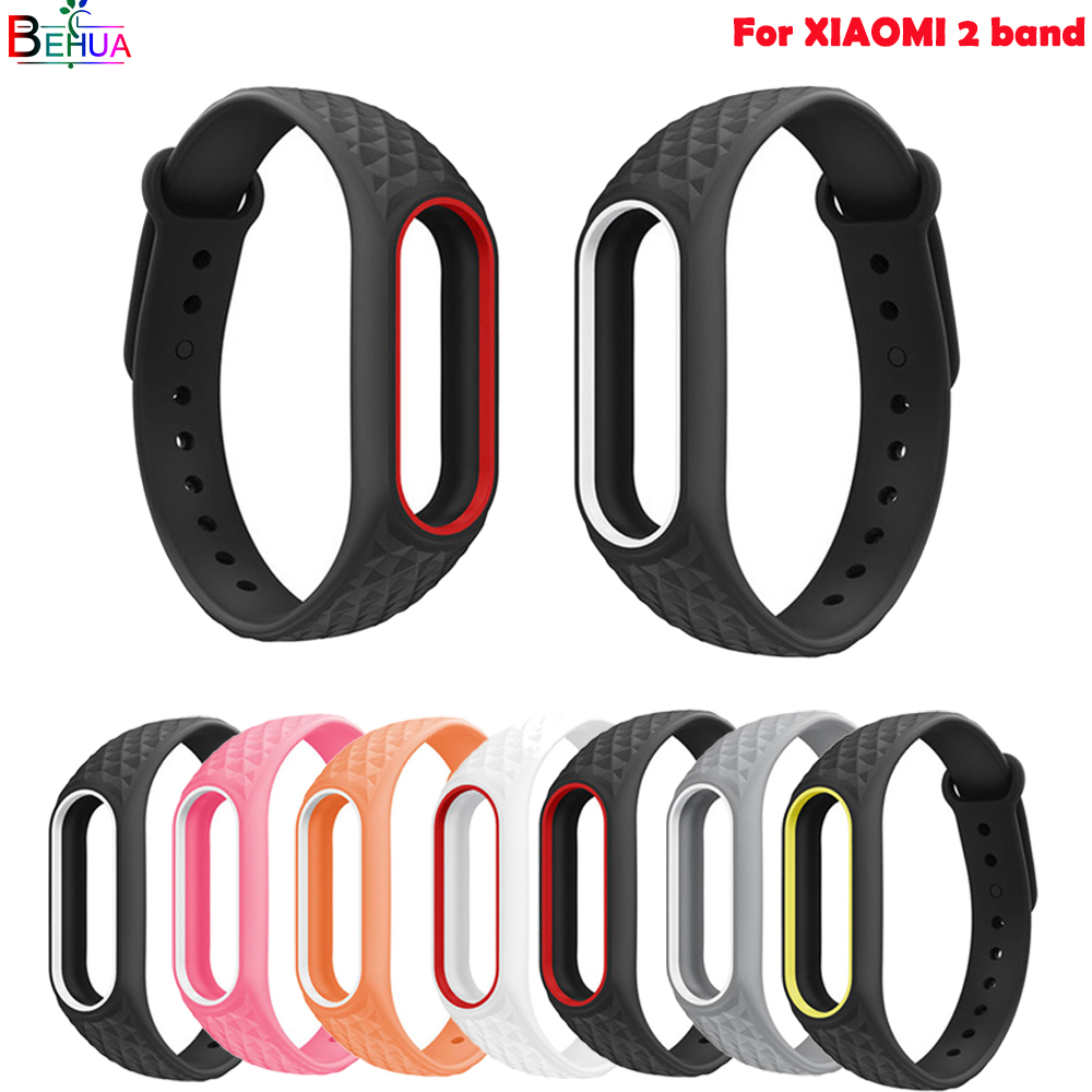 silicone sport band For Xiaomi 2 smart watch watch band Bracelet Pedometer Replacement wristband high quality strap Accessories