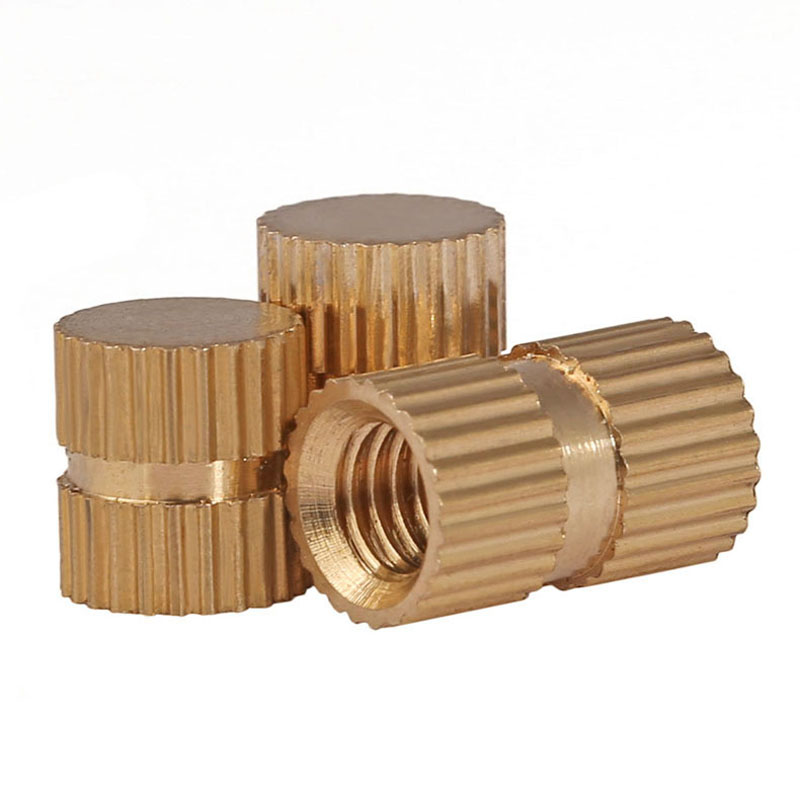 M3/M4/M5/M6/M8 B Type Blind Hole Single Pass, Copper Inserts, Copper Embedded Parts, Copper Knurled Nuts