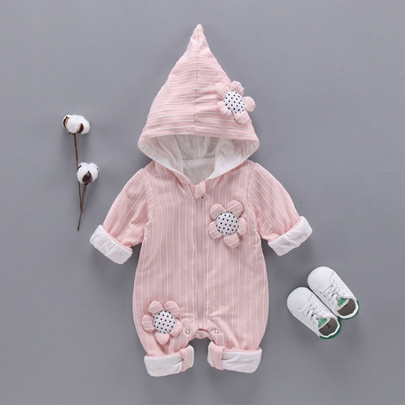 Newborn baby girls spring fall clothing sports suit hooded outerwear set for baby boys girls long sleeve rompers clothes sets newborn infant baby rompers spring autumn baby clothing long sleeve baby body suit kids boys girls rompers baby clothes kf070