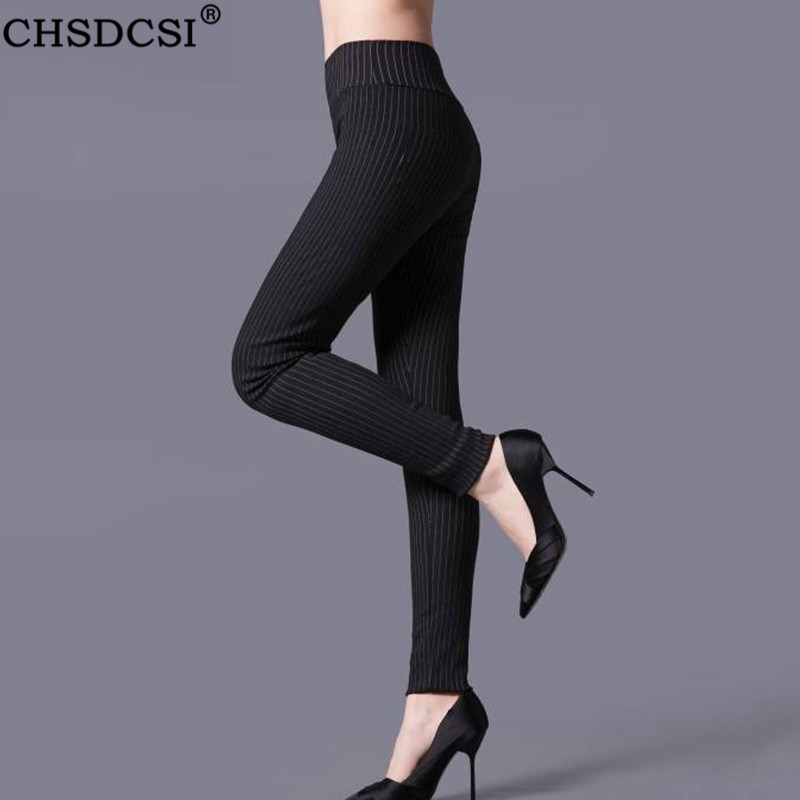 CHSDCSI Casual Stripe Leggings Sexy Black White Grid Leggins Women Legging Elastic Waist Sportwear Plaid Printed Leggings Mujer