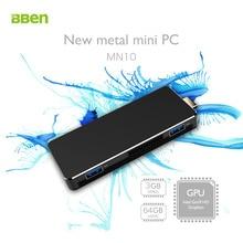 Apollo Bben MN10 Mini PC z Systemem Windows 10 Intel Jezioro N3350 3 GB RAM 64 GB eMMC BT4.0 USB3.0 HDMI WiFi Intel Wyciszenie Wentylatora PC Mini Komputer