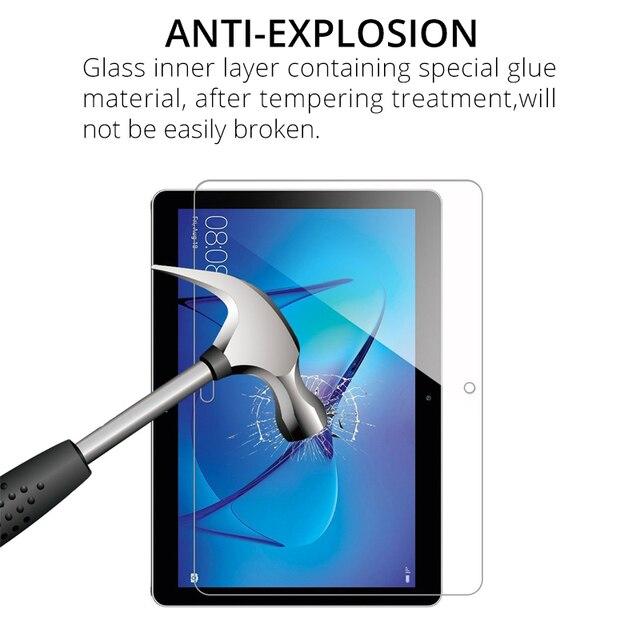 Verre trempé Protecteur Décran pour Huawei MediaPad M6 10.8 M6 8.4 2019 M5 Lite 10 8.0 M5 Pro 10.8 M3 Lite 10.1 8.0 Film de verre