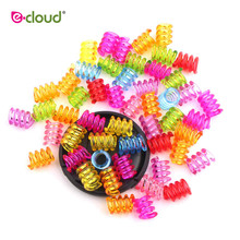 Hair-Rings Cuff Dreadlock Beads Braided Jewelry-Making Pony-Beads-Kit Colorful for Bracelet