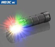 Skilhunt H03C RC/rojo/Verde/azul/blanco Multi-Colores LED linterna del faro