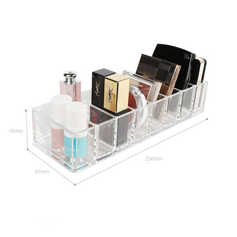 Прозрачный акриловый косметический Органайзер, коробка для хранения макияжа, Новая кисть, держатель для губной помады, макияж, чехол, различные украшения, инструменты для хранения