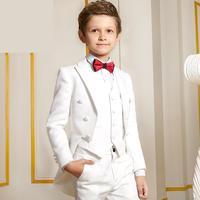 5 Pieces jacket+pants+Vest Big Children's Tuxedo Boys'suit Small Stage Show Flower Piano Performance Dress Jacket size 110 170