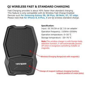Image 5 - Yianerm מגנטי אלחוטי לרכב טלפון הר מחזיק מגנט Stand צ י סטנדרטי מטען במכונית עבור iPhone X Xs 8 בתוספת סמסונג S8 S7