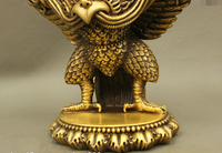 S0487 10 Tibet Buddhiam Pure Bronze Redpoll Winged Garuda Bird Eagle Buddha Statue