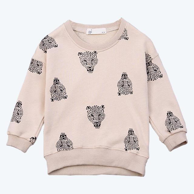Meninos T Camisa Camisola de Manga Comprida T-Shirt Bobo Choses Roupa Dos Miúdos Meninos Crianças Leopard Animal Print Camisola Roupas de Inverno