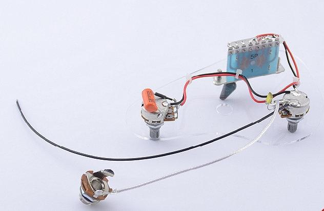 High Quality Electric Guitar Wiring Harness ( 2x 500K Pots + 5-Way Switch + : electric guitar jack wiring - yogabreezes.com
