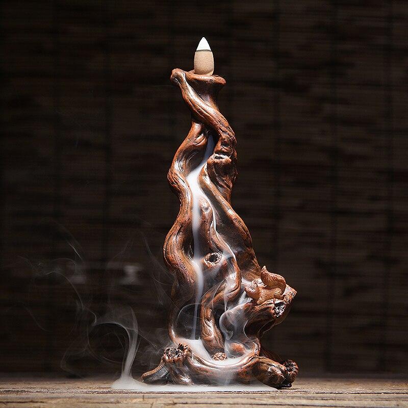 Arbre racine poudre résine retour encensoir bois de santal aromathérapie four salon montre flux nuages creative ornements WL5291008