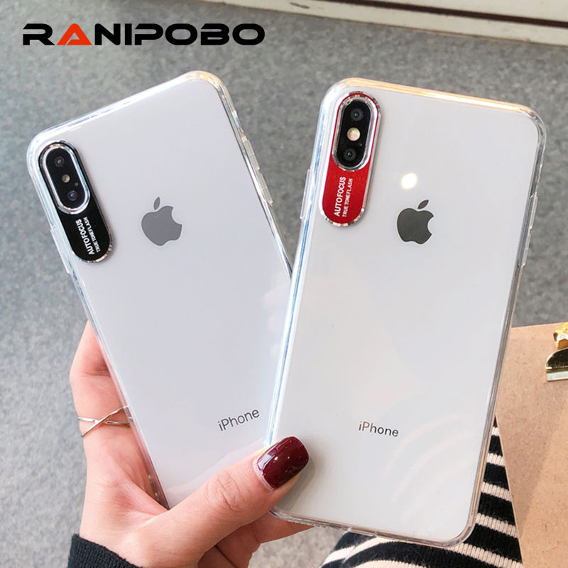 Metal Lens Letters Protector Phone Case For IPhone X XS XR