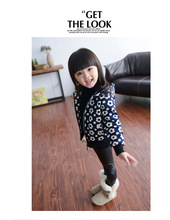 Spring New Children's Clothing Baby Girls PU Leather Pants Leather Pants Children's pants girls leggings