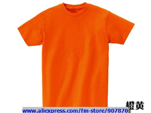 Cheap T Shirts Custom Womens Mens Orange Blank T Shirts