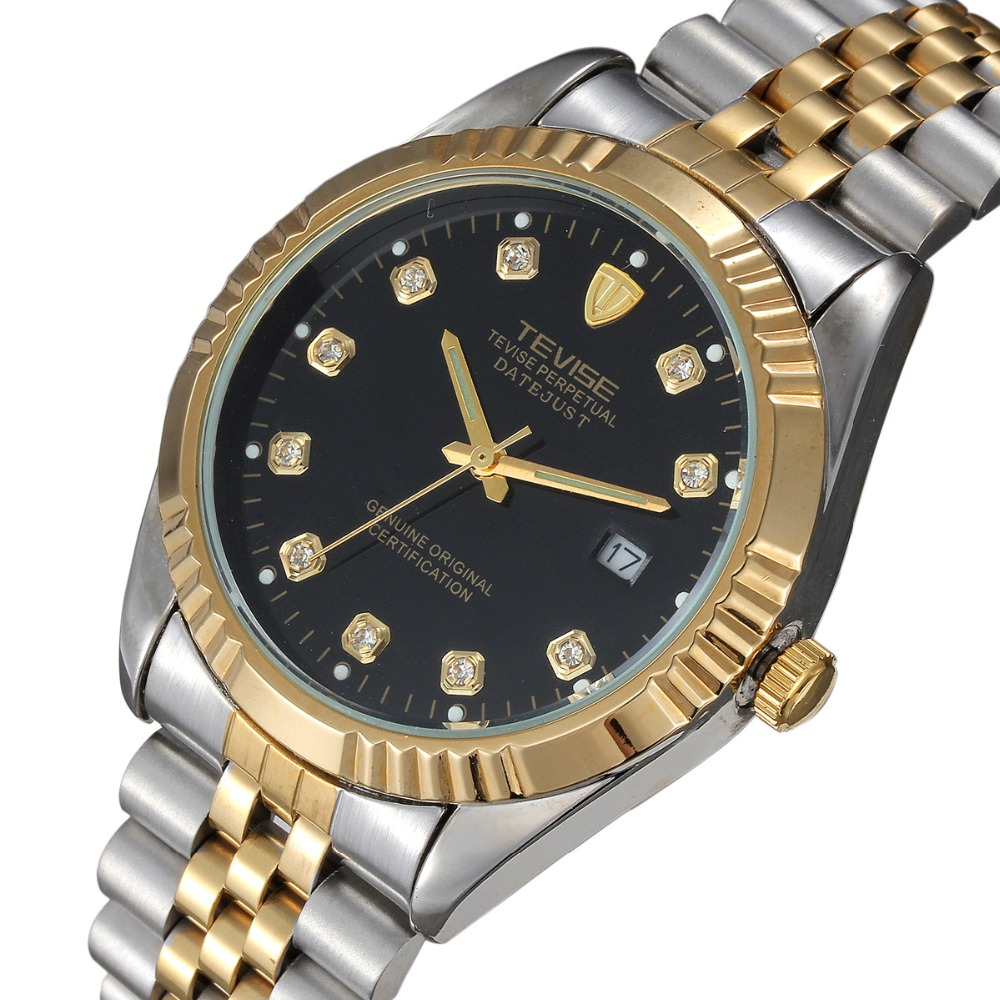TEVISE Men s Watch Switzerland Business Leisure Quartz watch fashion Lovers men women Stainless steel waterproof