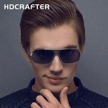 HDCRAFTER  Fashion Designer New Men's Sunglasses  UV400 Polarized coating mirrors Oculos  Driving  Eyewear