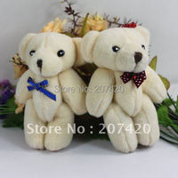 13cm cute lovely joint bear toys with bow tie.bear dolls,24pcs/pack