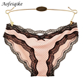 2016 Fashion Panties Female Sexy Full Lace Neon Color Lace Plus Size Summer Sexy See Through Underwear Lady's Briefs