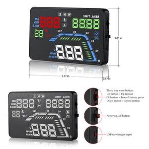 Image 2 - Q7 Auto Auto HUD GPS Head Up Display HD 5,5 Geschwindigkeitsmesser Überdrehzahl Multi Farbe Warnung Dashboard Windschutzscheibe Projektor