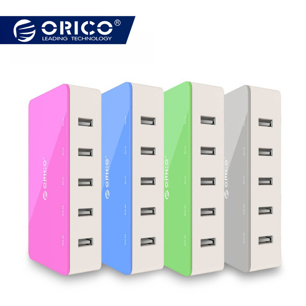 ORICO 5 Port Desktop Ladegerät Handy Reise Ladegerät USB Schnelle Intelligente Ladegerät Für Smartphone Samsung iPhone Tablet