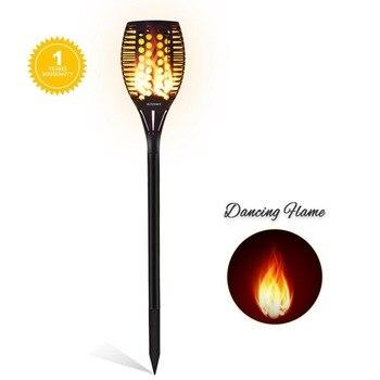 4pcs/lot Solar 96LEDs Dancing flame Torch Lights radar 3 working mode LED  p65 festal light water landscape garden cam