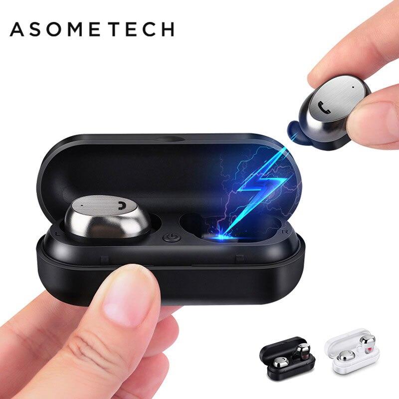 M9 Bluetooth Écouteurs Sans Fil Écouteurs Sport Casque Stéréo Mini Jumeaux Métal Cas de Charge Pour téléphone Xiomi Smartphone Avec Micro