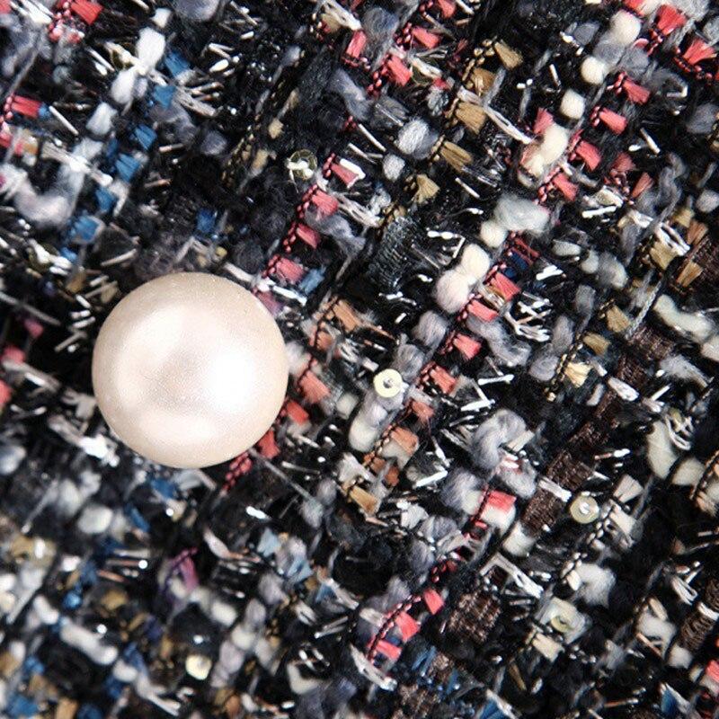 Perles Wwn1204 Hiver 2018 Colored À Outwears Tweed Vestes Boutons Manteaux Automne Grand Mode Hee Laine Manteau Carreaux De Et Ol Plaid Femmes wRxSp5zCtq