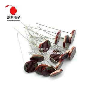 Image 2 - 100pcs 12528 Light Dependent Resistor LDR 12MM Photoresistor Photosensitive GL12528 Photoconductive resistance