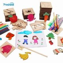 Preskool Baby Speelgoed Voor Kinderen DIY Schilderij Template Fun Graffiti Coloring Spel Vroege Onderwijs Speelgoed