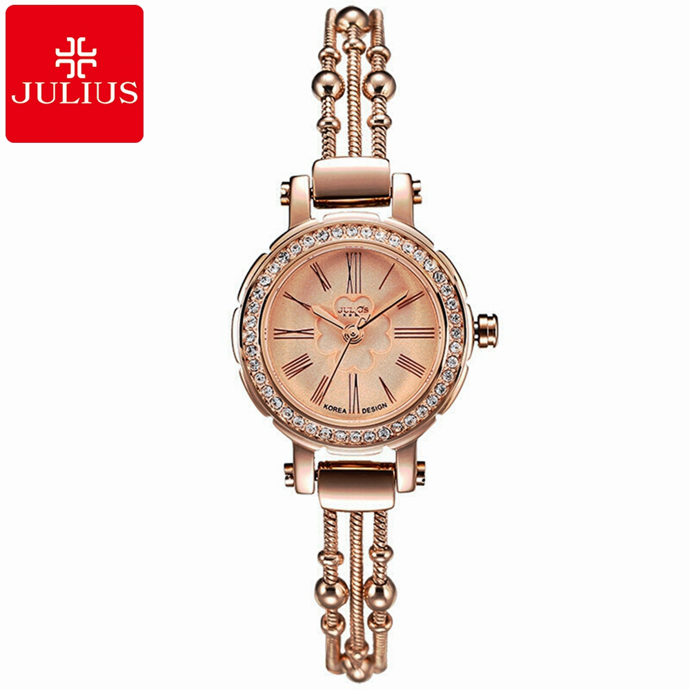 New Luxury Crystal Women Bracelet Rhinestone Wristwatch Ladies Gold Silver Waterproof Watches Fashion Casual Quartz Watch Julius 2016 new arrive fashion and casual ladies watches silver bracelet luxury crystal watch oem round ultra slim dress quartz watches