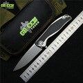 Espinho verde 95 M390 Flipper faca dobrável lâmina de Titânio TC4 CF 3D handle outdoor camping caça bolso fruit Facas EDC ferramentas