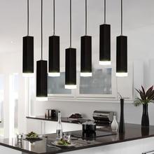 Led Pendant Lamp dimmable Lighting Kitchen Island Dining Room Shop Bar Decoration Cylinder Pipe Pendant Lights