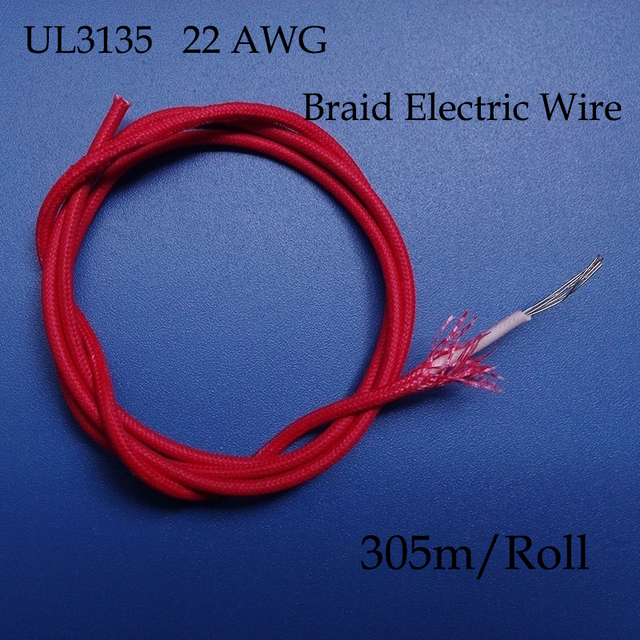 Aliexpress Com Buy 305m Roll Ul3135 22awg Braid