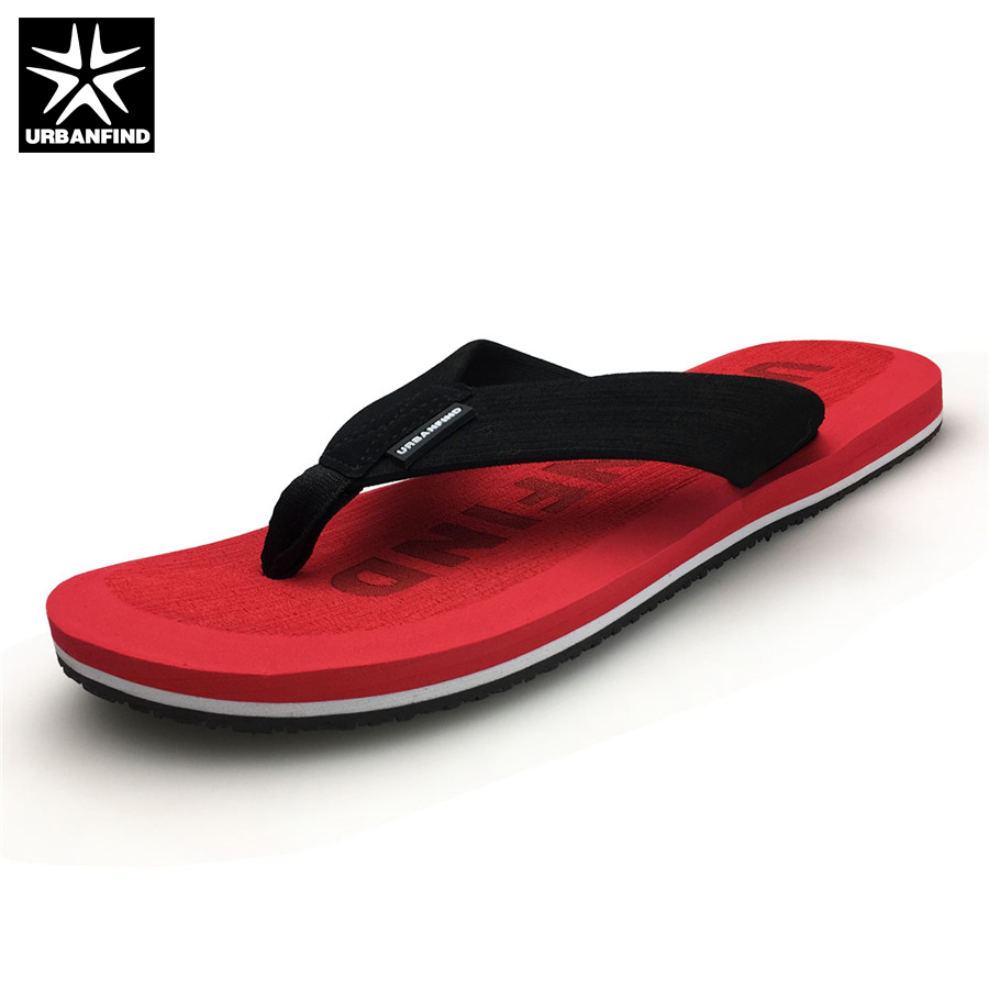 URBANFIND Beach / House Men Casual Flip Flops Big Size 41-46 Brand Fashion Man Beach Slippers Summer Shoes Red Khaki beach house paris
