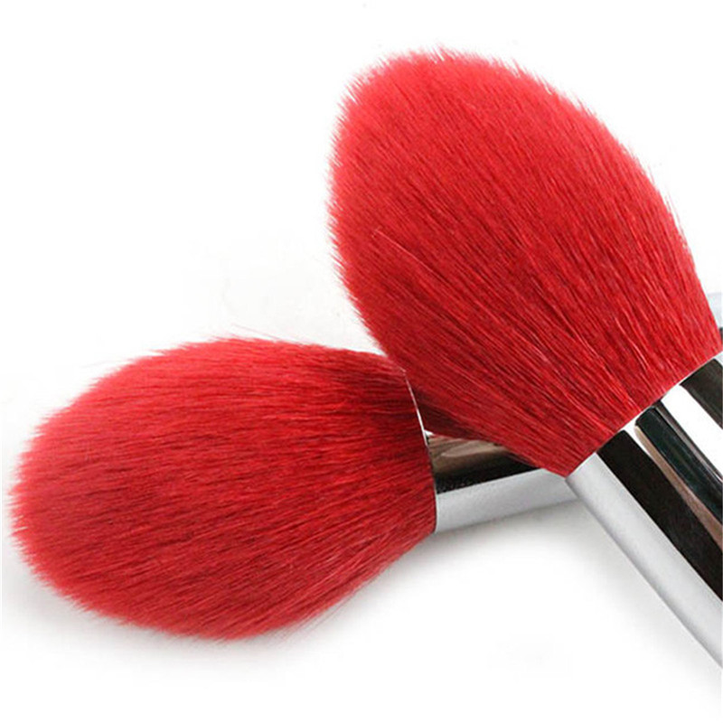 1 PC Cosmetic Brush Wool Tube Wood handle Blusher Powder Foundation Eye Shadow Face Red Nature Goat Hair Makeup Brush