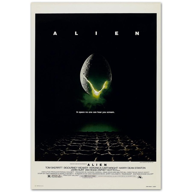 <font><b>Alien</b></font> <font><b>1979</b></font> Sigourney Weaver Horror Classic Movie SILK POSTER Wall painting 24x36inch image