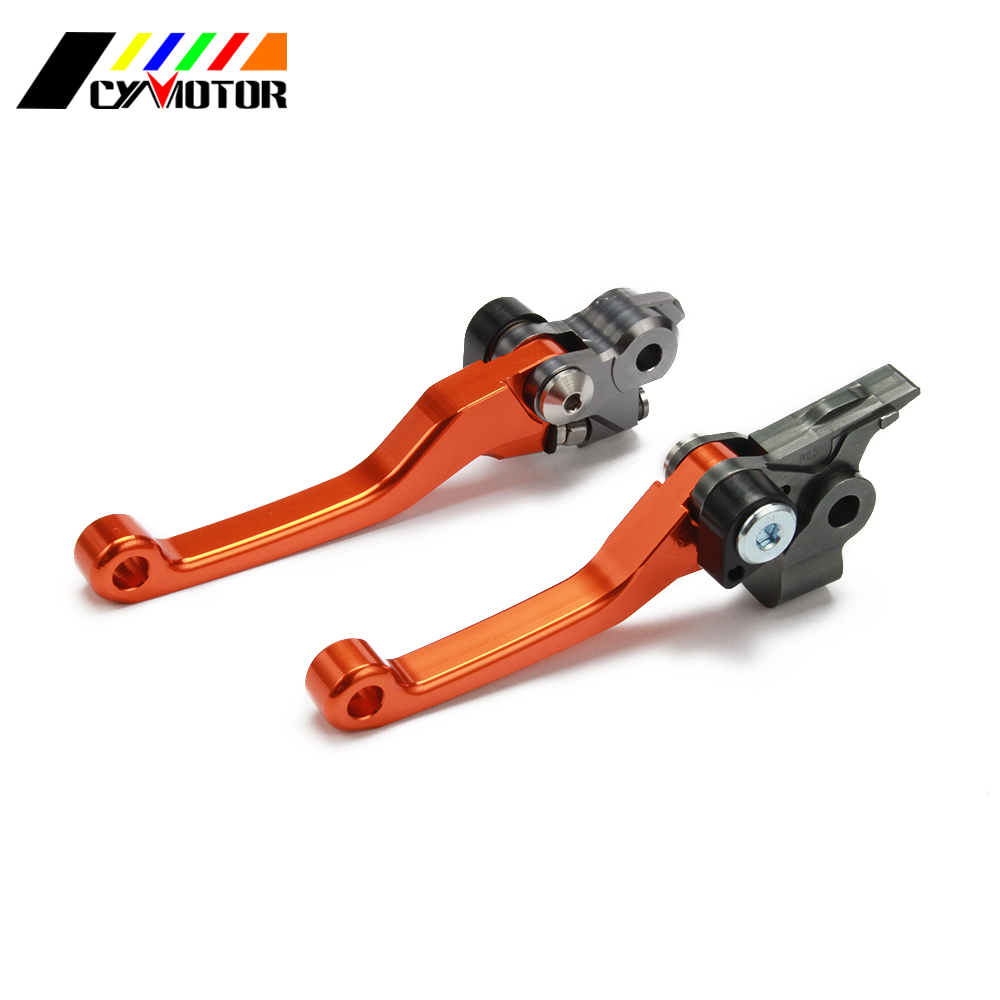 Motorcycle CNC Pivot Brake Clutch Levers For KTM 250EXC 250EXC-F 250SX 250XC 250 EXC EXC-F SX XC SXF 125 150 250 30 350 450 -530 cnc adjustable motorcycle billet foldable pivot extendable clutch