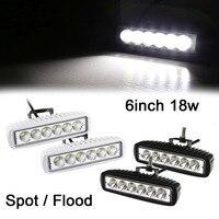 6INCH 18W MINI LED BAR 12V LED WORK LIGHT SPOT FLOOD FOG LAMP FOR OFF ROAD