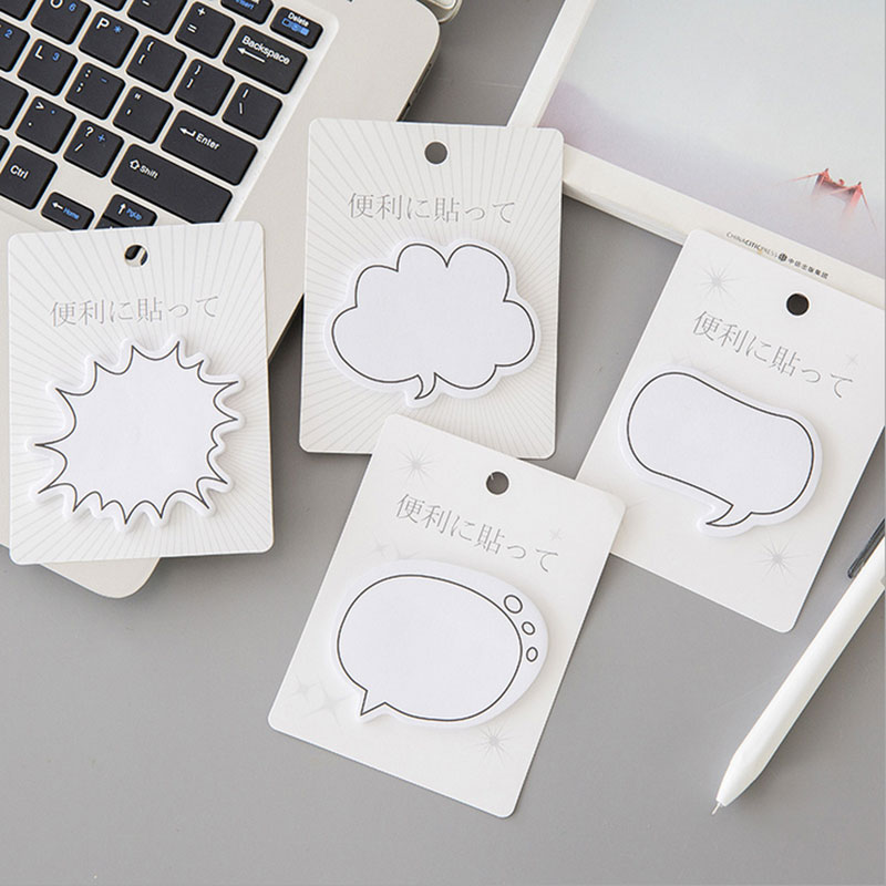 1X Kawaii Creative Cartoon Dialog Box Stickers Weekly Plan Sticky Notes Post  Memo Pad Korean Stationery School Supplies Gift