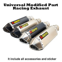 Akrapovic Racing Exhaust Universal 35 51MM Muffler Pipe Moto escape Fit for most motorcycle ATV Dirt bike Scooter 125 1000cc